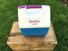 Vintage Fun Mate by Igloo Cooler Lunchbox Picnic Retro Blue w/ Purple