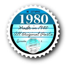 Retro 1980 Tax Disc Disk Replacement Vintage Novelty Licence Car sticker decal