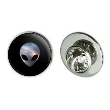"Alien Head in Space Metal 0.75"" Lapel Hat Pin Tie Tack Pinback"