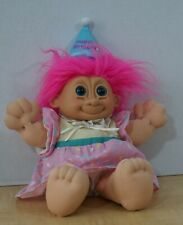 12 in. Troll Soft Body - Happy Birthday - Pink Hair - Blue Eyes - Russ