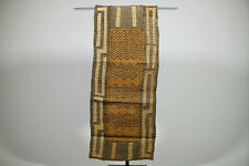 """Embroidered Hand Woven African Kuba Cloth Textile 76"""" x 17"""""""