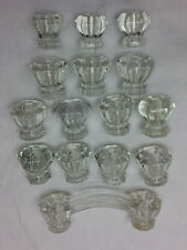 15 Vintage Glass Knobs Handles DIY Project Hardware