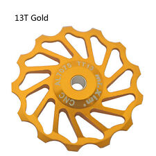 2pcs 13T Jockey Wheel Gold Bike Bicycle Derailleur Solid Pulley for Shimano Sram