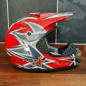 RST MX-R Motorcross Helmet - Motorbike Karting Helmet - Juniors size medium