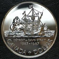 CANADIAN GEM 1987 - $1 DOLLAR - .500 SILVER - 400th Anniv. Davis Strait - Nice