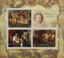 Madagascar Barroque Painter Pierre Paul Rubens Art Sov. Sheet of 3 Stamps MNH