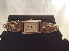 Native American Navajo Sterling Silver Watch-Signed BJ
