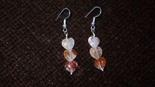 Silver Plated Quartz Costume Earrings