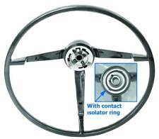 1965 1966 FORD MUSTANG STANDARD STEERING WHEEL BLACK PAINT TO MATCH #SW02 NEW