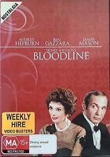 Bloodline - Sidney Sheldon, Audrey Hepburn (DVD, 1980) Region 4 - Rare