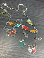 """Women's Ladies Necklace Mixed Color Long  Sweater Style 28"""" Dangle Charm"""