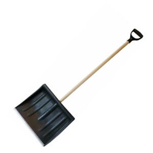 NEW 120CM SNOW SHOVEL PUSHER SCOOPER CLEARING CAR SPADE WINTER METAL OUTDOOR