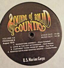 RADIO SHOW: USMC COUNTRY GOLD SHOW 20/7-8 GLEN CAMPBELL, FREDDY FENDER, DOTTSY