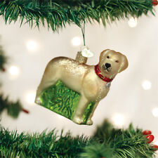 Yellow Lab Standing Glass Ornament