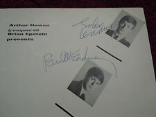 John Lennon Paul McCartney The Beatles Authentic Signed 12/01/63 Autograph NICE!