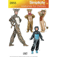 Simplicity SEWING PATTERN 2855 Child's Costume- Gorilla,Teddy,Lion,