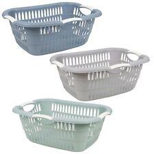 Groß 26L Wäsche Zimmer Korb Mit Faltbar Griffe Aufbewahrung Waschen Bin Plastik
