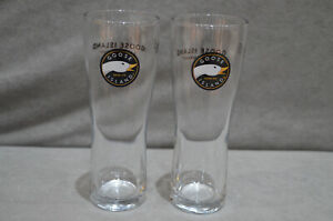 Pair Of (2) Goose Island Half Pint Beer Glass 10oz Tall & Slim Design 2016 M16