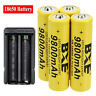 4 Pack 3.7V Rechargeable Batteries Li-ion Battery With Charger For Flashlight