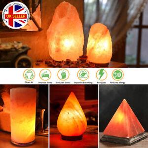 Himalayan Salt Lamp Crystal Pink Rock Salt Natural Crafted Healing Ioniser Lamps