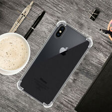 For Apple iPhone X XS Case Shockproof Silicone TPU Bumper Slim Back Cover Clear
