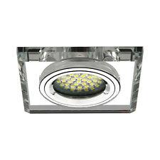 Cornice per incasso Vetro Trasparente Quadrati Cristal faretti da Lampada