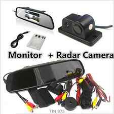 "Radar CCD Car Reverse Parking Camera & 4.3"" HD Rearview Mirror Display Monitor"