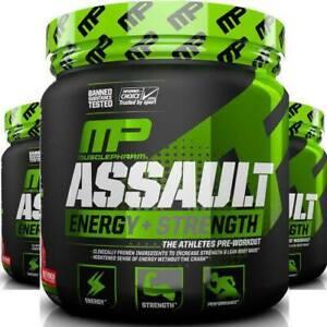 MusclePharm Assault - Explosive Pre Workout 30 Servings, Energy & Strength