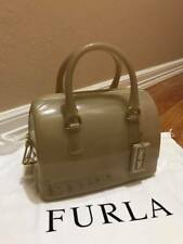 Authentic Furla Pl0 Silicone Acero Jelly Candy Mini Satchel