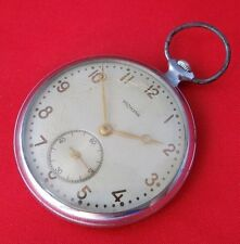ISKRA RAREST ANTIQUE MECHANICAL SOVIET CCCP USSR POCKET WACTH SERVCIED 1950 year