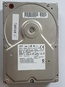 3: 2 GB Ide IBM DAQA-33240 ATA-3 5400RPM Ata Hard Drive P/N 73H7753