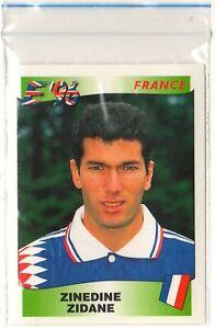Panini Euro 1996 Sticker Zinedine Zidane Black Back
