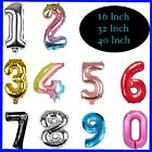 """16"""" 32"""" 40""""  Foil Number Balloons Self Inflating Happy Birthday Age Party Decor"""