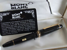 Official Dealer NEW MontBlanc Black+Gold Meisterstück LeGrand 146 Fountain Pen M