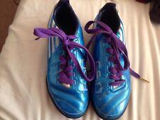Immaculée paire bleu ADIDAS F 50 Unisexe Chaussures De Football Taille UK 5