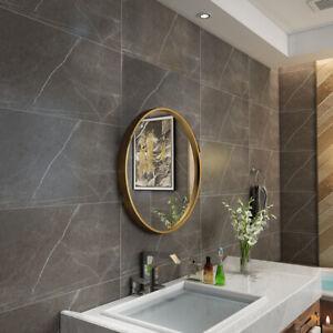 Gold Round Wall Mirror Bathroom Frame Mirror Iron Wall Mounted Mirror 50CM