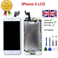 White iPhone 6 LCD Touch Screen Digitizer Assembly with Home Button Camera