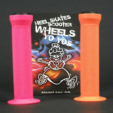 GK Scooter Handlebar Grips Combo Orange Pink + bar ends