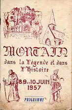 Mortain dans la légende et dans l'histoire.Programme fêtes Pentecôte 1957