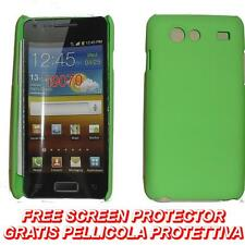 Pellicola+custodia BACK COVER RIGIDA VERDE per Samsung I9070 Galaxy S Advance
