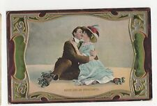 Never Lose An Opportunity W & K Romance Embossed Greetings Postcard, A710