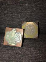 2 Printing Plate Blocks, Letterpress Vintage Podiatry/Military Inked Stamp