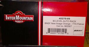BNSF NEW MINT AUTORACK HO INTERMOUNTAIN ORANGE #965567 NEVER RUN TTGX NEW LOGO