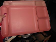 TUPPERWARE 2 Vintage #1535 Divided Picnic Dining Trays Cafeteria Plates