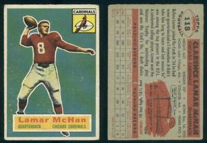 (69366) 1956 Topps FB 118 Lamar McHan RC SP Chicago Cardinals-GD
