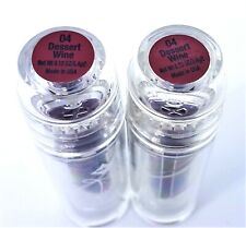 Lot of 2 Jordana LSN Lipstick Dessert Wine #04 Burgundy Discontinued Quick Ship