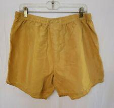 Vintage Genelli Men's 100% Silk Boxers Gold Size Xl