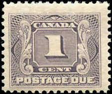 1906 Mint H Canada F+ Scott #J1 1c Postage Due Stamp