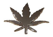 3D Weed Pot Leaf Marijuana Car Badge Emblem Decal 3M Stick On Hood Fender Trunk.
