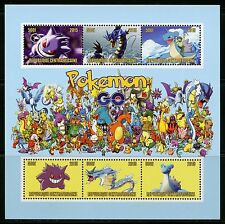 Central Africa 2015 New Release First Time Offered Pokemon Sheet I Mint Nh